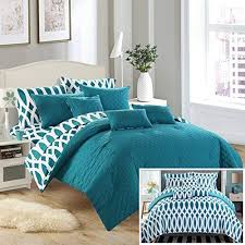 teal queen bedding. Contemporary Teal Chic Home 10 Piece Comforter Set Including 4 Sheets Set Queen Teal Inside Queen Bedding