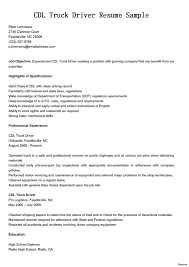 Resume For Truck Drivers Best Of Download Mercial Truck Driver