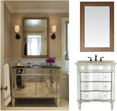 mirrored vanity furniture. Attractive Single Washbasin Mirrored Rustic Bathroom Vanities Panelling With Square Mirror Added Shade Wall Mount Lighting In Small Space Country Vanity Furniture
