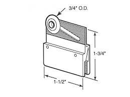 m6145 3 4 inch sliding frameless shower door roller and bracket