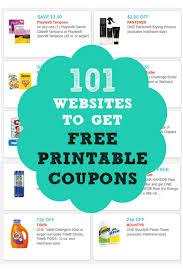Free Print Coupons 101 Websites To Get Free Printable Coupons Huge List Coupon Karma