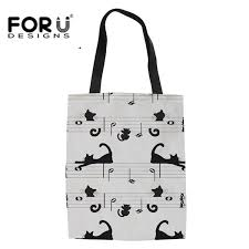 <b>FORUDESIGNS</b> Fashion Youth Girls Linen Tote Bags Cute <b>Cartoon</b> ...