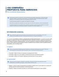Formato De Hoja De Servicio Propuesta De Servicios