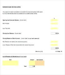 Bank Reconciliation Template Stunning Bank Reconciliation Worksheet Packed With Reconciling A Bank