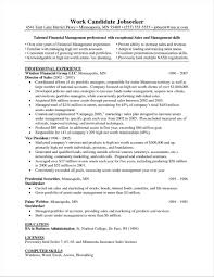 Resume Examples Asset Management Your Prospex