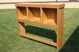 Headboard Bench Plans Wonderful Diy Twin Headboard Bench With Storage Hometalk Images