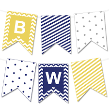 Chevron and Striped Bunting Banner - Chicfetti Parties