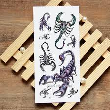 3d скорпион поддельные татуировки переводные картинки временные татуировки