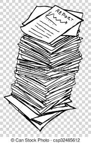 Paper Reports Stack Of Reports
