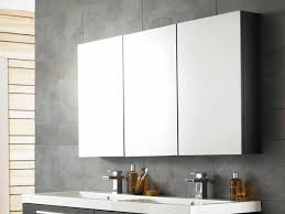mirror cabinets bathroom. Bathroom: Cool Bathroom Mirror Cabinets With Three Panels Storage Over Contemporary Vanity Units Using Duo R