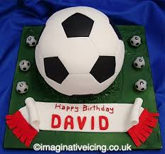 3d Football Birthday Cake Imaginative Icing Cakes Scarborough