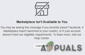 But in case you couldn't find it, don't assume that the marketplace is down. Facebook Marketplace Not Working Try These Steps Appuals Com