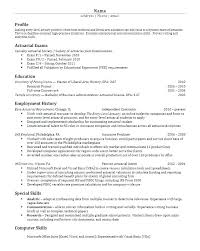 Actuary Resume Template Dew Drops