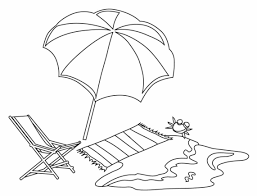 They will enjoy the colorful umbrellas and the feeling of accomplishment at connecting the right pieces together. Coloring Pages Of A Beach Umbrella Coloring Home