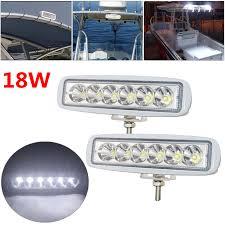 Marine Lights Details About Set Of 2 White Spreader Led Deck Marine Lights For Boat Spot Light 12 30v 18w