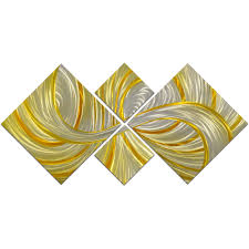 prev on 4 piece metal wall decor with omax decor deceptive golden curls 4 piece handmade metal wall art