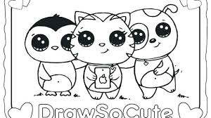 Cute Coloring Pages Of Baby Animals Cute Cartoon Coloring Pages Cute