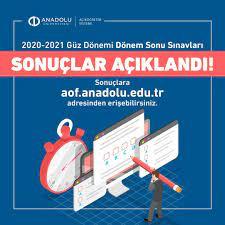 Anadolu Üniversitesi Açıköğretim Sistemi - Dönem Sonu Sınav sonuçları  açıklandı! Sonuçlara https://aof.anadolu.edu.tr adresinden erişebilirsin.  #AnadoluÜniversitesi #Aös #Açıköğretim #Sınav #Sonuç   Facebook