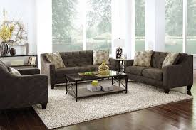 Tufted Living Room Set Furniture Living Room Sofa L Shaped Cushions Black White Wall