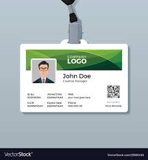company id card templates corporate id card template with green curve
