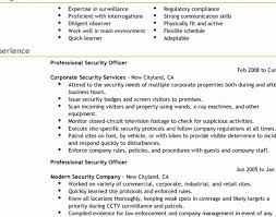Security Guard Resume Objective Resume format for Security Officer Awesome College Campus Security 63