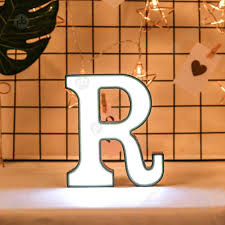 26 Letter Led Night Light Marquee Sign Lamp Indoor Club Wall Hang
