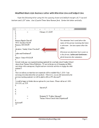 Business Letter Format Example Subject Line New Example Business ...