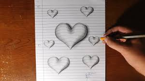 how to make 3d paintings on paper how to draw 3d hearts line paper trick