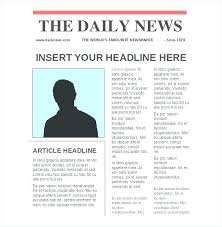 Newspaper Template Free Google Docs Newspaper Template Front Page Musacreative Co