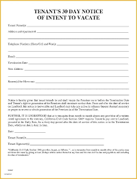 30 day notice to landlord form example of day notice to vacate letter landlord tenant template 30