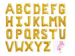 Gold Alphabet Letter Balloons Script Custom Banner 16