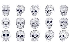 I thought this would look great with gold foil on a black tote. Free Download Nice And Unique Skull Bundle Available In All Formats Svg Png Dxf Eps Compatible With Cricut Silhouette More