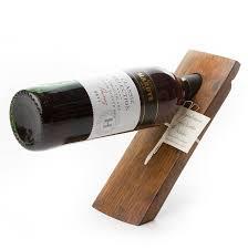 wine bottle holder dark finish
