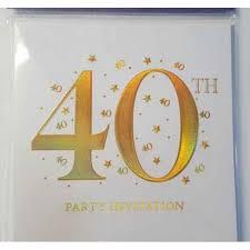 40th Birthday Invitations 40th Party Invitation