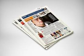 Newspaper Template Psd 50 Hq Newspaper Mockups And Templates 2019 Psd Indesign