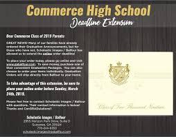 Graduation Invitations Online Extension Commerce High School