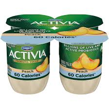 activia light probiotic blended nonfat yogurt peach