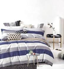 green and white rugby stripe bedding cabana stripe modern duvet cover cotton twill bedding set geometric