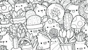Kawaii Food Coloring Pages Coloring Ideas