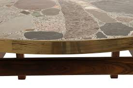 stone coffee table. Decor Of Stone Coffee Table Round Top At 1stdibs