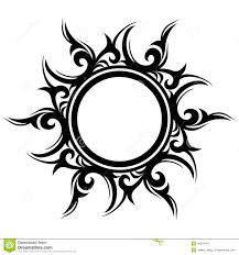 татуировка абстрактное солнце цветок иллюстрация вектора