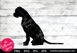Size of this png preview of this svg file: Boxer Dog Silhouette Graphic By Thesilhouettequeenshop Creative Fabrica In 2020 Dog Silhouette Boxer Dogs Image Editing Software
