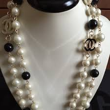 chanel inspired jewelry. pearl chanel inspired necklace jewelry
