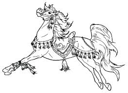 Horse Coloring Pages Printable Free Carousel Horse Coloring Page