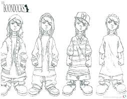 the boondocks coloring pages e3468 the boondocks coloring pages gangsta coloring pages gangster gangsta colouring pages