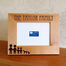 personalised stick family photo frame