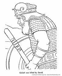 Bible Story Characters Coloring Page Sheets David Killed Goliath