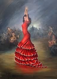 flamenco painting flamenco dancer by mai griffin