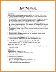 7 Teaching Sample Resume G Unitrecors