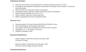 Sample Security Consultant Resume Security New Company Driver